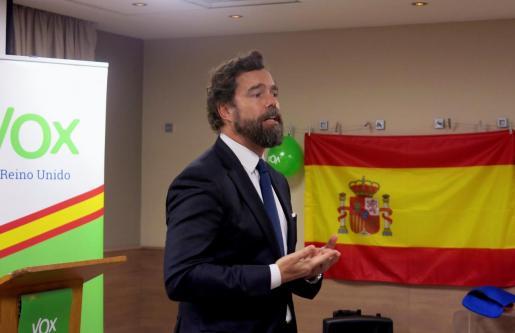 Iván Espinosa de los Monteros, durante una presentación.
