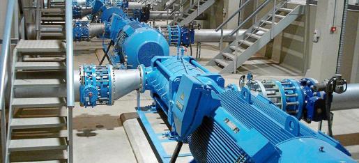 Instalaciones de impulsión y distribución del agua de sa Costera ubicadas junto al Port de Sóller.
