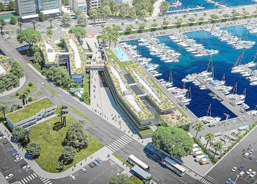 Imagen virtual del futuro Club de Mar, cuyas obras de remodelación finalizarán en 2022, según la entidad.