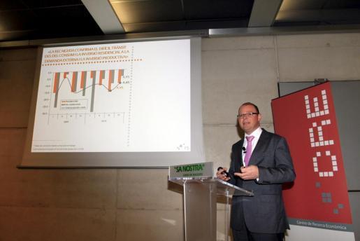 Antoni Riera, durante la presentación del informe económico presentado esta mañana.