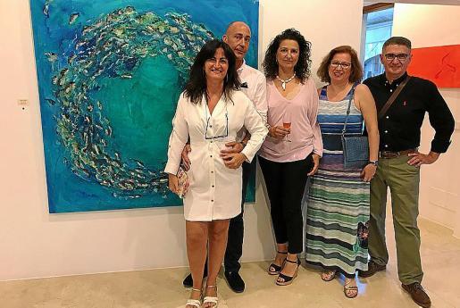 Macu Barceló, Gabriel Muntaner, Carolina Amigó, Catalina Bonnín y Rafel Rodríguez.