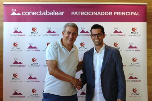Andreu Sureda y Joan Miquel Durán, en el acto de renovación del patrocinio.