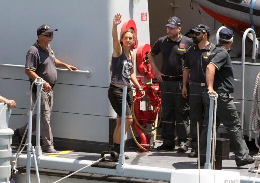 Carola Rackete capitana del buque de rescate Sea Watch 3.