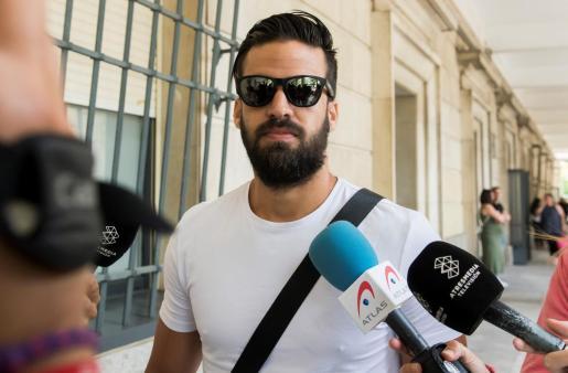 Guerrero, en una imagen de archivo del pasado verano acudiendo a los juzgados.