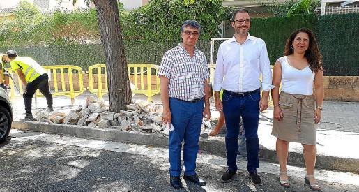 El alcalde Hila y los ediles Perpinyà y Pastor visitaron este viernes los trabajos en La Vileta.