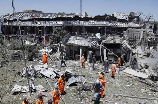 El ataque, cuya autoría ha sido reivindicada por los talibán, tenía como objetivo una oficina de los servicios de Inteligencia del país.