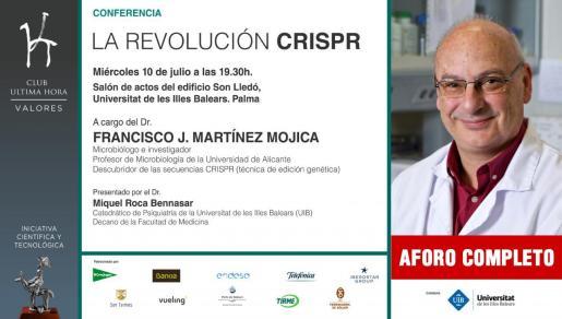 El doctor Francisco J. Martínez Mojica imparte en Palma la conferencia 'La revolución CRISPR', una conferencia organizada por el Club Ultima Hora.