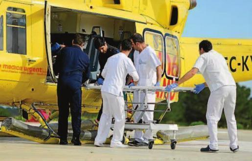 Imagen de archivo de un helicóperto durante un traslado a Can Misses
