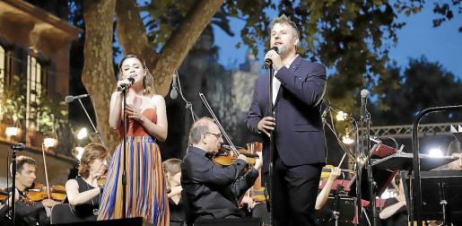 Lydia Fairen y Gerónimo Rauch, en el concierto que la Simfònica ofreció el pasado junio en el Born.