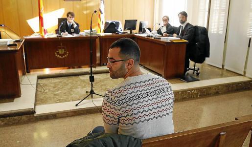 Achraf E., en el juicio celebrado el pasado noviembre en Palma.