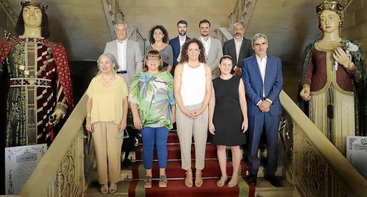 El equipo del gobierno insular, tras la toma de posesión.