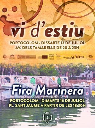 Els Vins de l'Estiu 2019 y Fira Marinera en Portocolom.