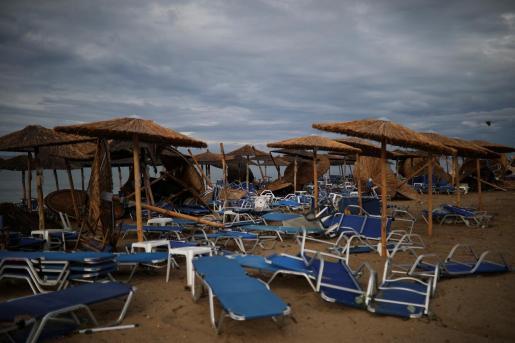 Cuantiosos daños materiales y personales tras el temporal en la zona norte del país heleno.