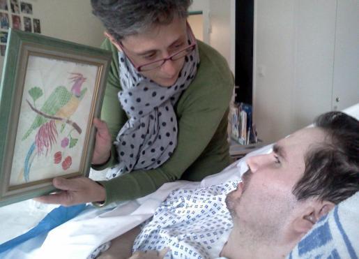 Vincent Lambert en el hospital.
