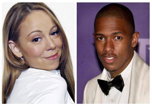 Combo de fotografías de archivo de la cantante y actriz Mariah Carey y el actor Nick Cannon (d).