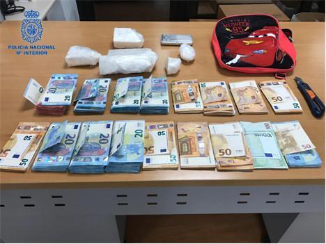 Imagen del material intervenido por la policía en la operación contra el tráfico de drogas.