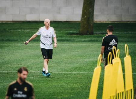 Entrenamiento del Real Madrid en Montreal