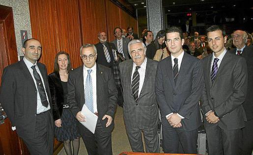 Fernando Fernández, Margalida Roig, Alejandro Blanco, Pere A. Serra, Fernando Gilet y Javier Morente.