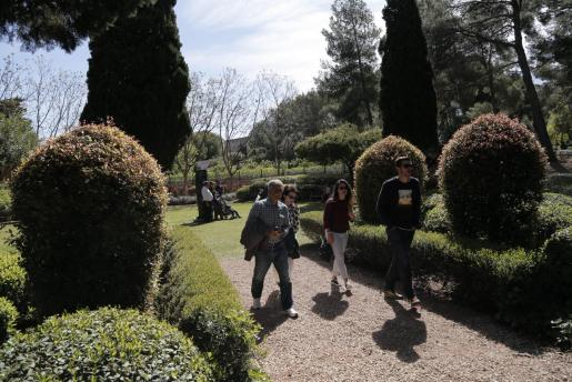 Los jardines del palacio de Marivent reciben la visita de miles de personas.