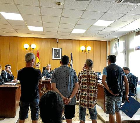 Cuatro acusados, este lunes en el juicio que tuvo lugar en Palma.