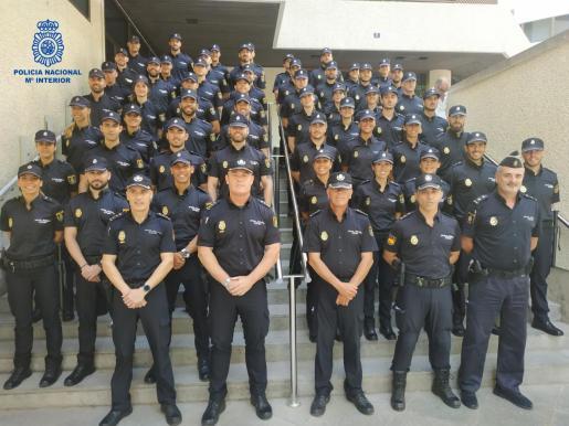 Agentes de la Policía Nacional en Palma.