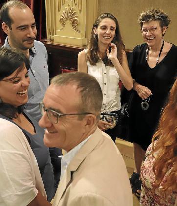 Representantes de Podemos en el primer pleno del Parlament.