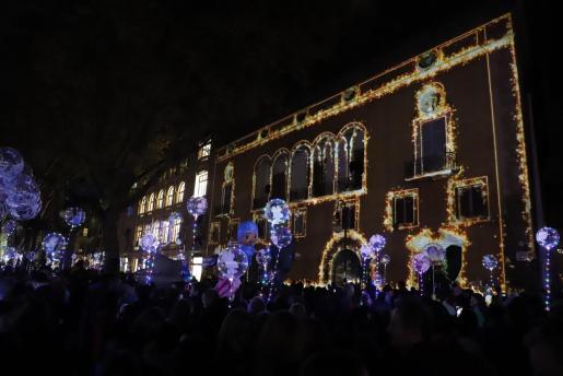 Imagen del encendido de luces del año pasado.