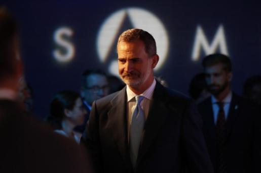 El Rey Felipe VI durante el acto del XX Aniversario de la Fundación Euroamericana en Madrid.