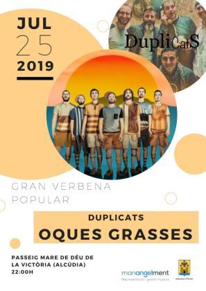 Oques Grasses será el protagonista de la gran verbena del jueves 25 de julio.