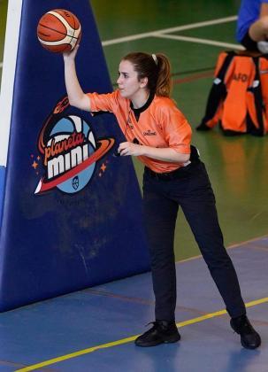 La colegiada mallorquina Laura Reus, en el pasado Campeonato de España Mini.