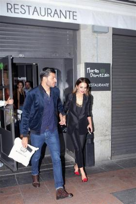 La actriz Paula Echevarría y el jugador de fútbol Miguel Torres.