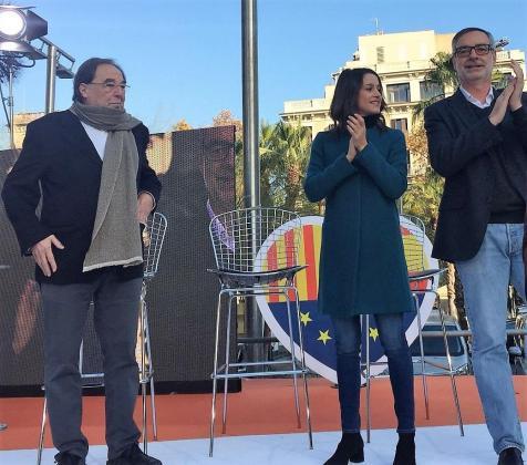 Francesc de Carreras en una imagen de archivo junto a Inés Arrimadas y José Manuel Villegas.