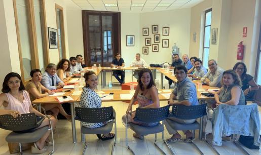 Momento de la reunión de la Comisión Ejecutiva del PSIB-PSOE.