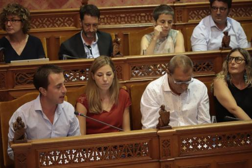 Galmés, durante el primer pleno del Consell de Mallorca celebrado este jueves.