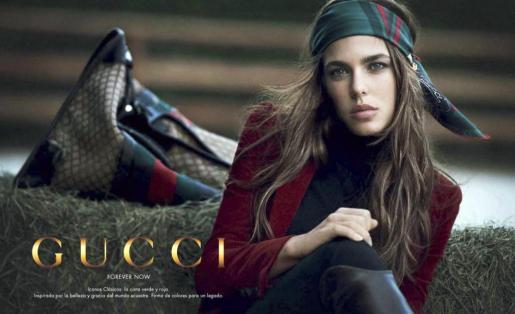 Imagen cedida por Gucci de Carlota Casiraghi.