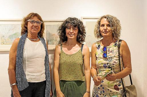Pilar Cerdà, Cati Bennàssar y Marina Piña.