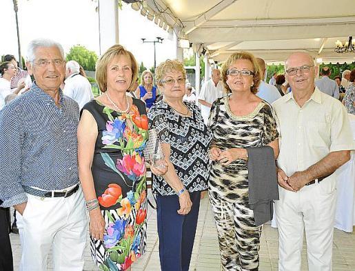 Andrés Pol, Maria Pizà, Maciana Pizà, Maria Roca y Gabriel Gelabert.