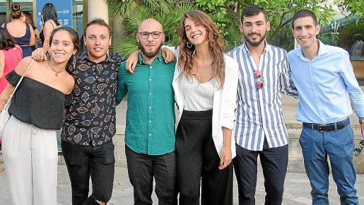 Paula Guerrero, Cristian Ruiz, Marc Ríos, Lorena Jordá, Miquel Coll y José Carlos Redondo.