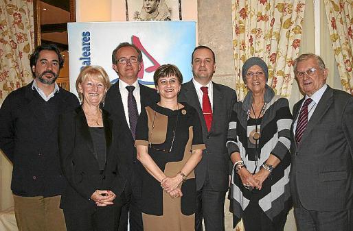 César Pacheco, Kate Mentink, José Escalas, Margarita Dahlberg, Antonio Deudero, Francisca Bennássar y Josep Oliver.