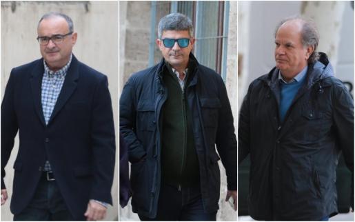 Los jueces Enrique Morell, Antoni Rotger y Antoni Garcías, los tres que se han abstenido.