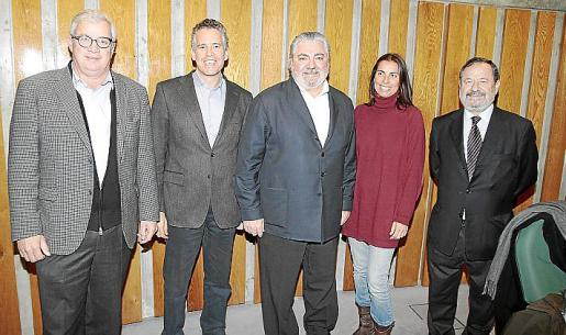 José Luis Roses, Joan Carles Rosselló, Rafel Sales, Elena Orbiñaga y Vicente Rotger.