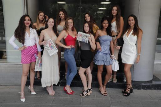 Las finalistas de Miss Turismo 2019 tras su visita a la redacción de Ultima Hora.