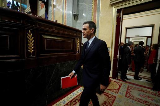El presidente del gobierno en funciones Pedro Sánchez espera alcanzar un pacto con Podemos.