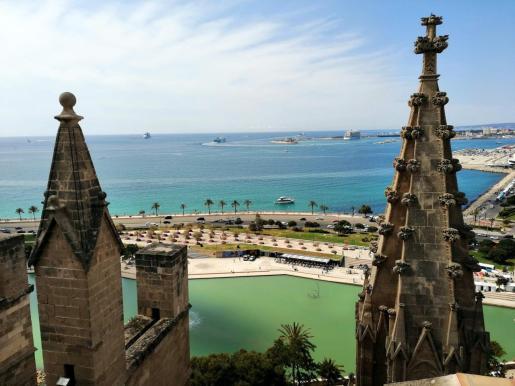 Vistas desde la Catedral de Mallorca.