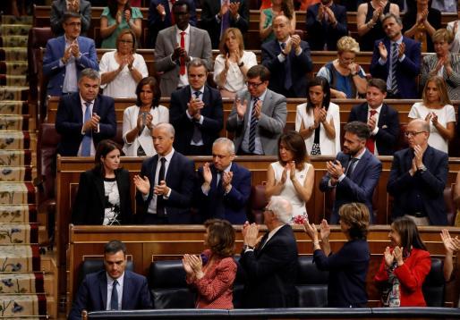 Momento de la sesión de la segunda votación de investidura.