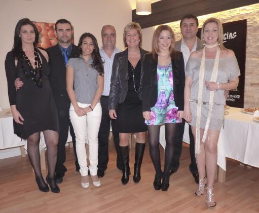 Cristina García, Juanjo Veny, Diana y Juan Cano, Tina Westergaard, Alejandra Bonmatí, Carlos Ocaña y Yolanda García.