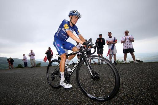 Enric Mas, durante una ascensión en el Tour de Francia.