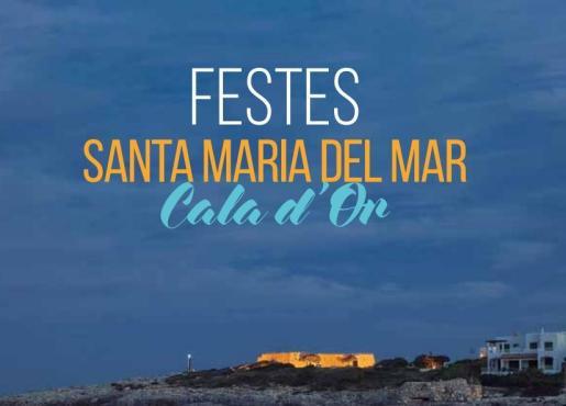 Cartel de las fiesta de verano de Santa María del Mar en Cala d'Or.