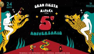 Gran fiesta en el Maraca Club para celebrar su quinto aniversario