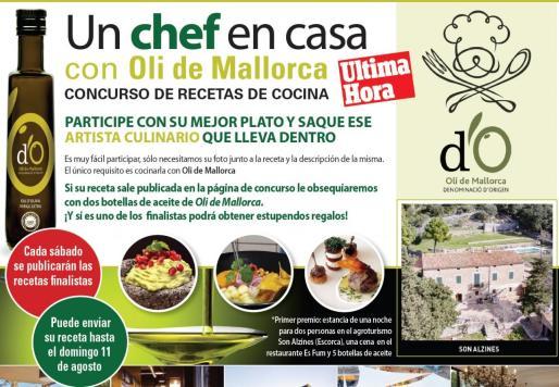 Bases del concurso 'Un chef en casa'.